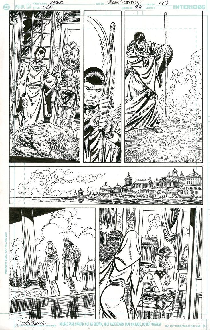 JLA #98, page 10 by John Byrne & Jerry Ordway &... | John Byrne Draws...