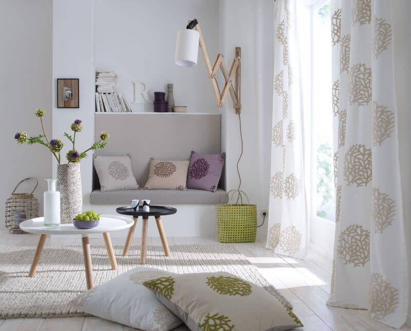 wohnzimmer gardine weiss und muster ❤ Vielfältige Plissees