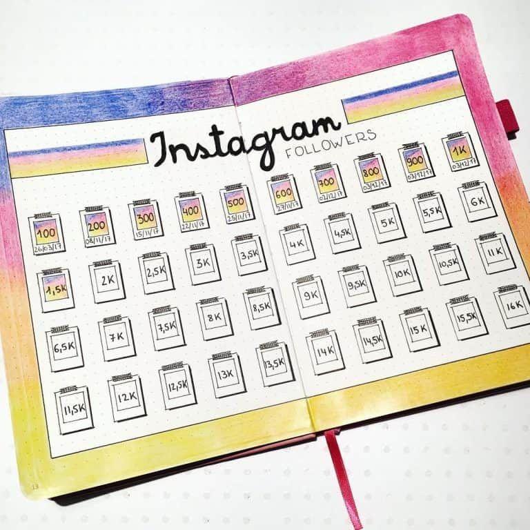 45 Follow Worthy Instagram Trackers Bullet Journal Ideeen