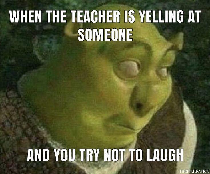 Lol 😂 #funnyposts #drôle #lol #relatable #école #shrek – Lol 😂