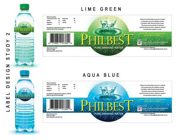 Mineral water bottle label design for Mineral water label template