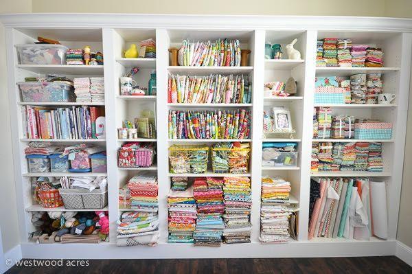 Craft Room Shelves At A Crafty Fox Blog