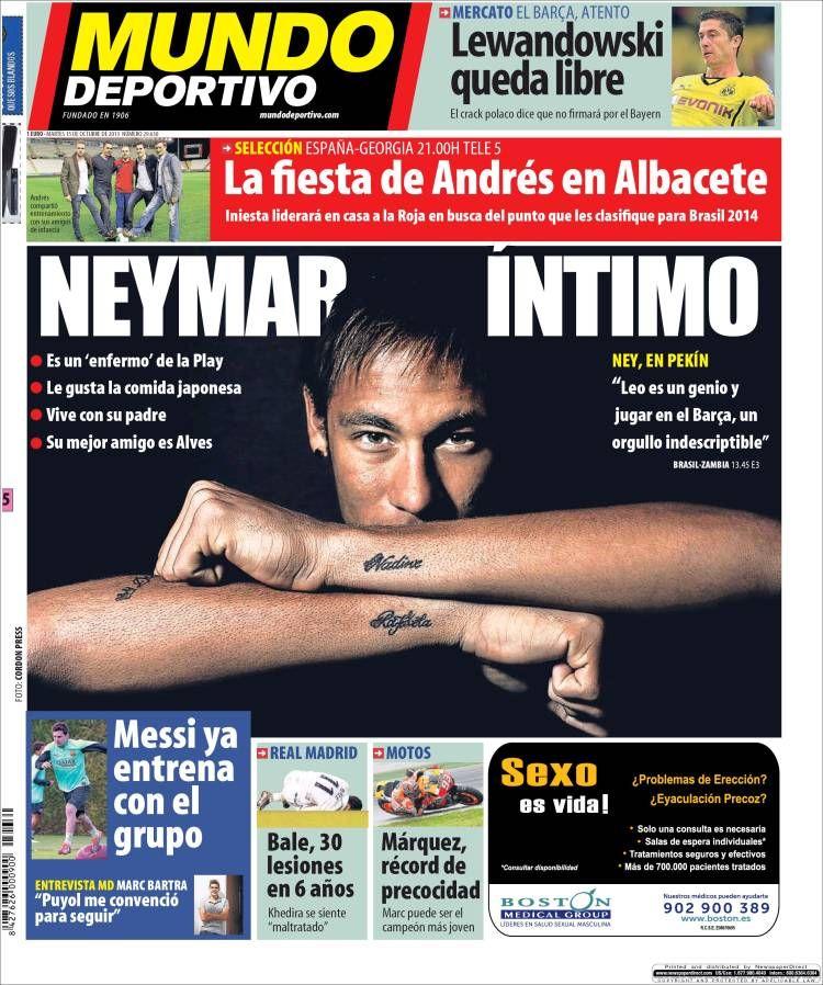 Los Titulares y Portadas de Noticias Destacadas Españolas del 15 de Octubre de 2013 del Diario Mundo Deportivo ¿Que le pareció esta Portada de este Diario Español?