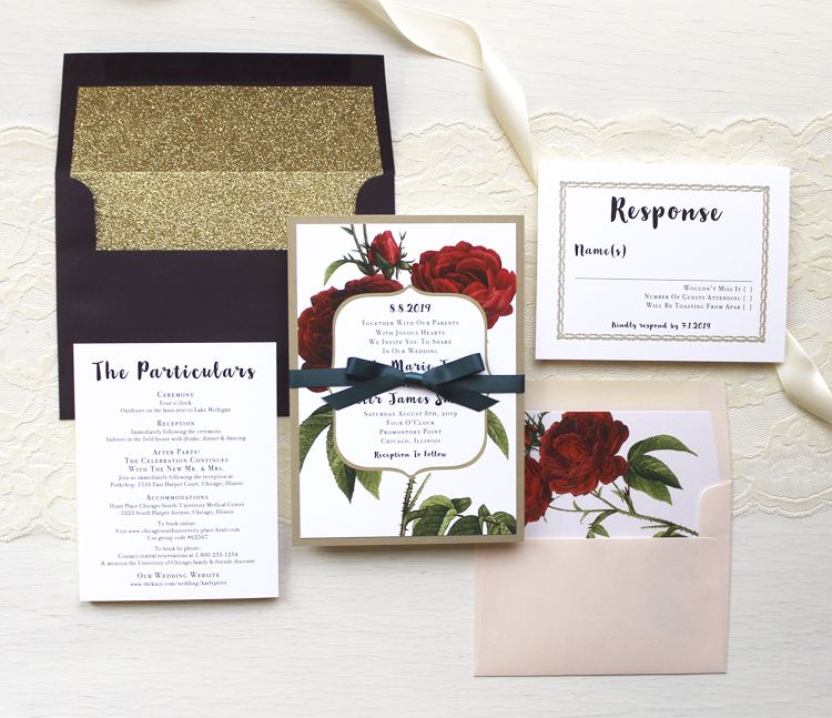 Modern meets boho! Jewel tones, gold glitter, red florals, emerald, gold and blush @beaconln