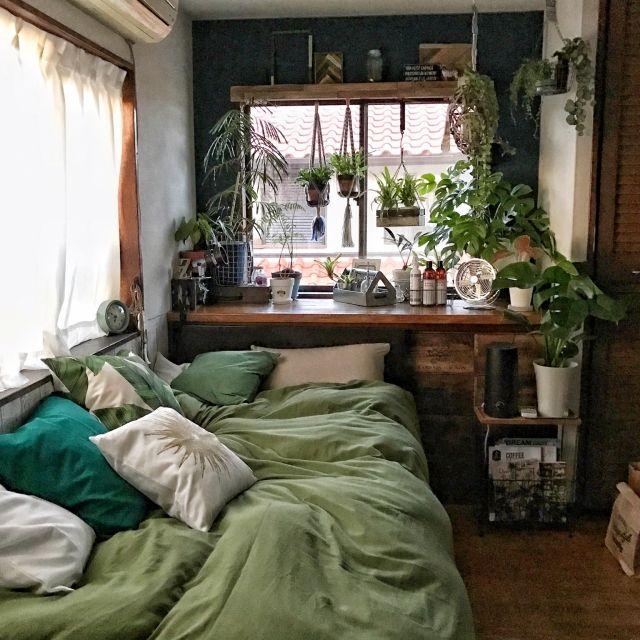 部屋全体/隠す派/山善収納部/植物のある暮らし/DIY...などのインテリア実例 - 2017-02-23 12:25:09 | RoomClip(ルームクリップ)