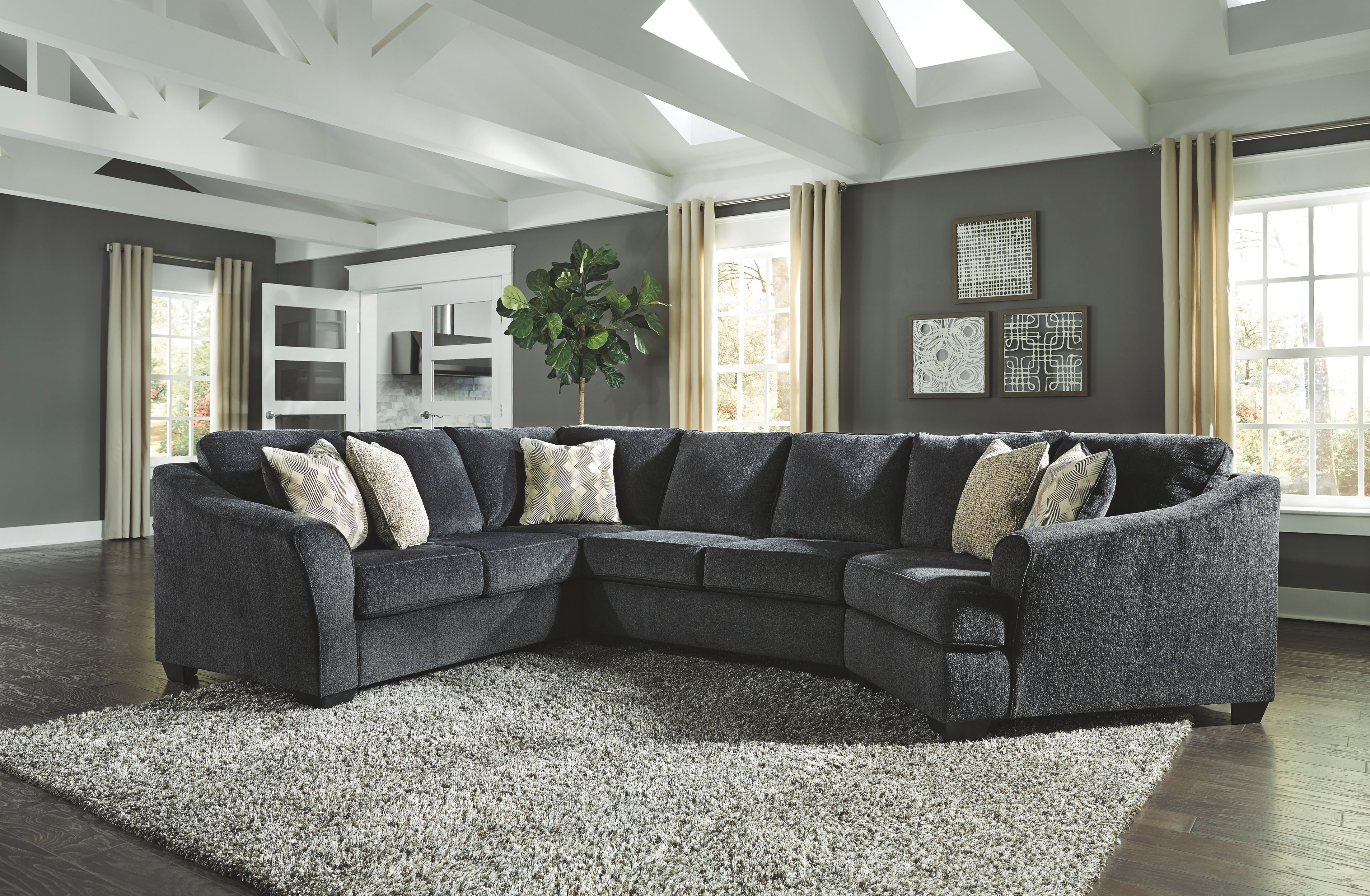 Best Eltmann 3 Piece Sectional With Cuddler Slate In 2020 640 x 480