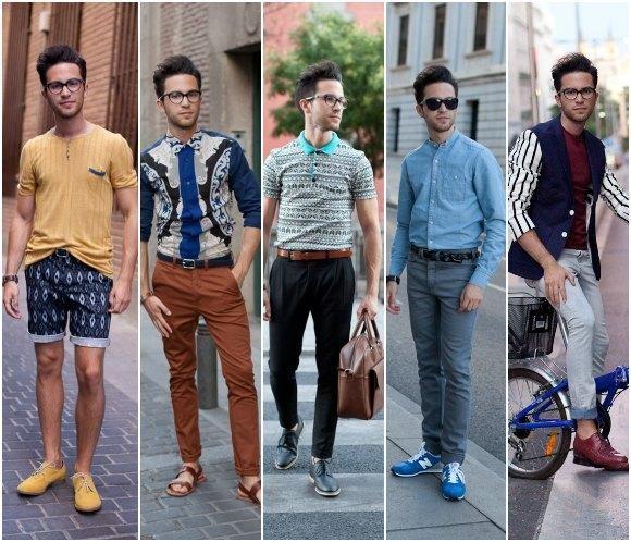el look y estilo hipster hombre con ropa vintage o de segunda mano