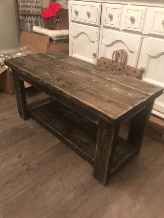 Smaller Rustic Custom Built 30 Inch Coffee Table Dorm Size
