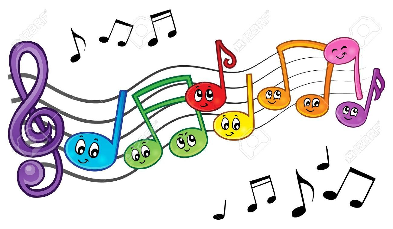 note de musique en couleur a imprimer