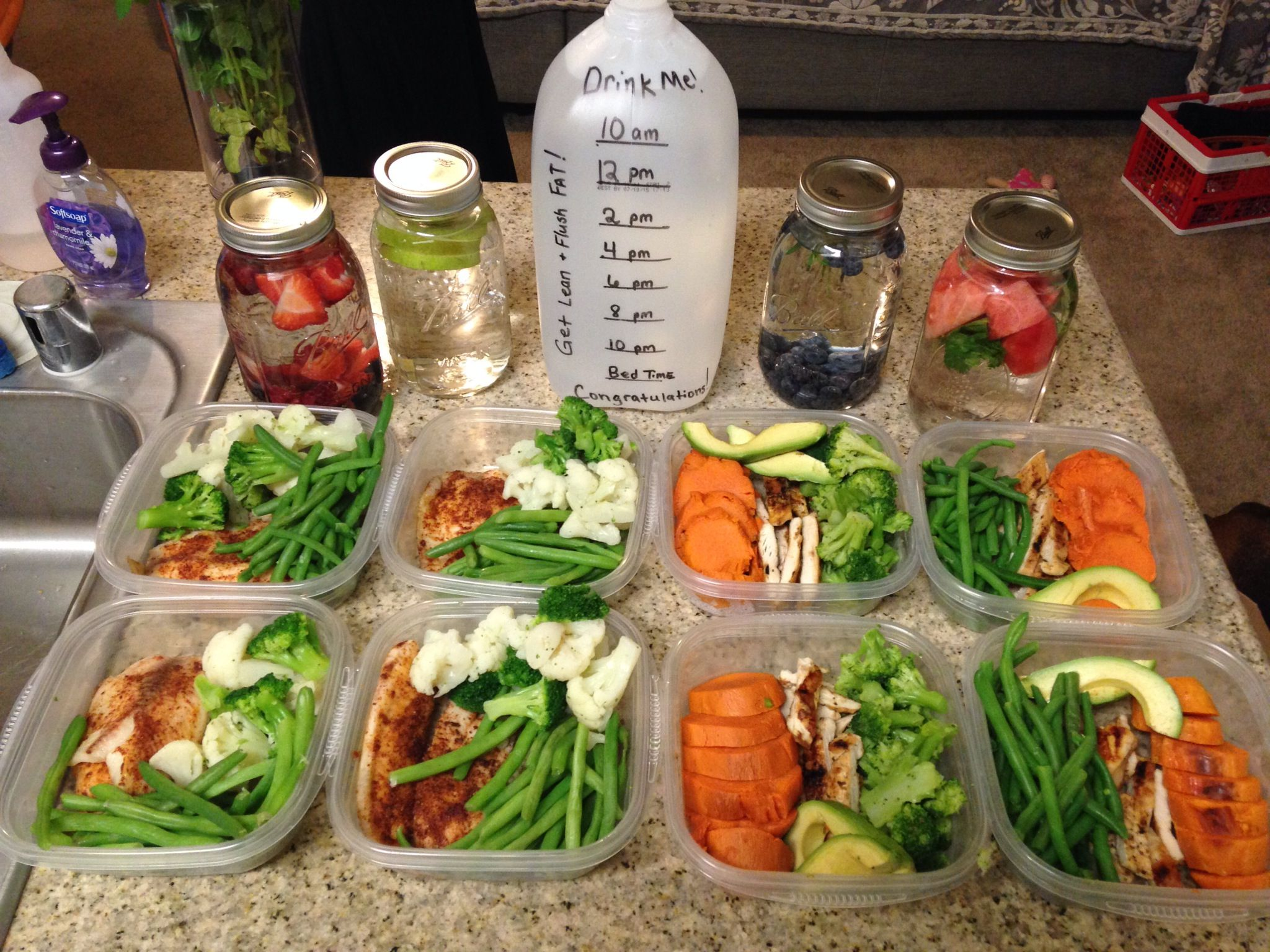 Weight Loss Stories From Around The Web Infused Waters Weekly Meal Prep And Green Veggies