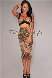 674f231cc8a87 Leopard Print Bralette Padded Two Piece Set