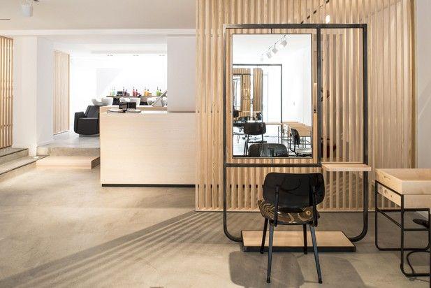 Aménagement salon de coiffure par Atelier Dynamo