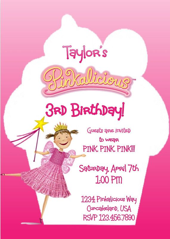Pinkalicious Birthday Ideas Pinterest – Pinkalicious Party Invitations