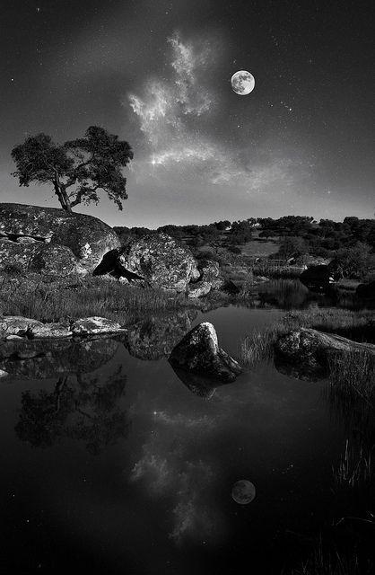 Dusk Black And White Landscape White Photography Landscape Photography