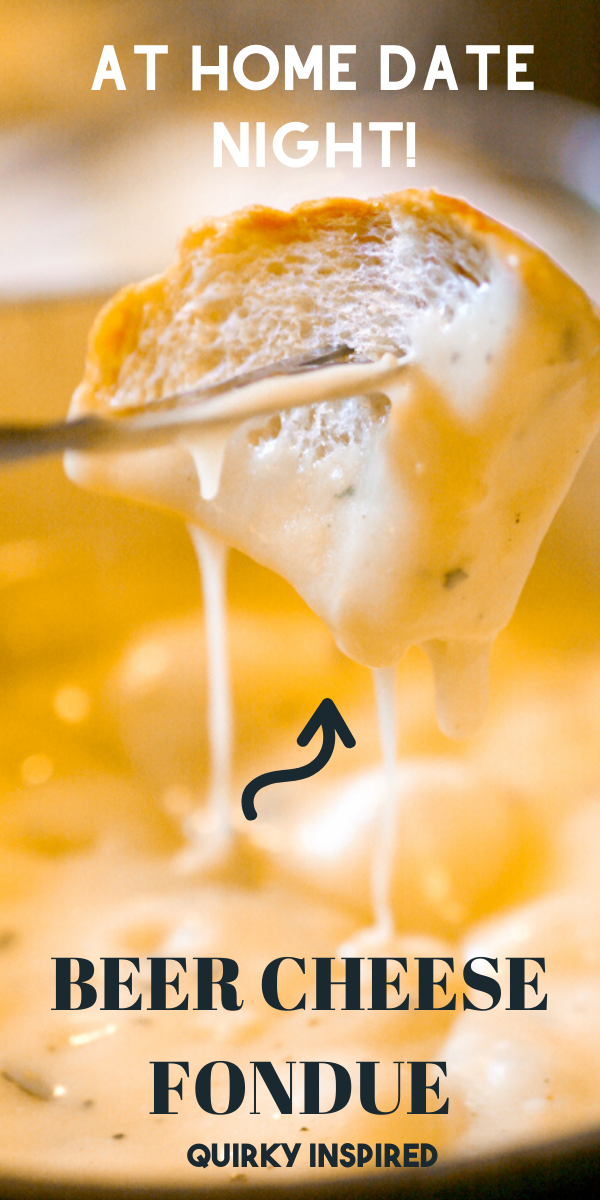 Stay at Home Date Night Ideas: Beer Cheese Fondue #meltingpotrecipes