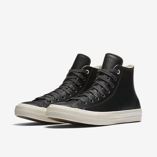 converse chuck ii mesh backed leather low top