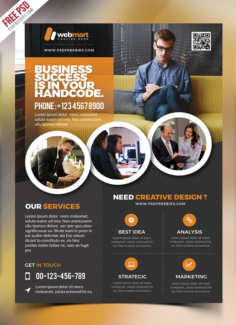 Corporate Flyer Template Free PSD Free psd flyer