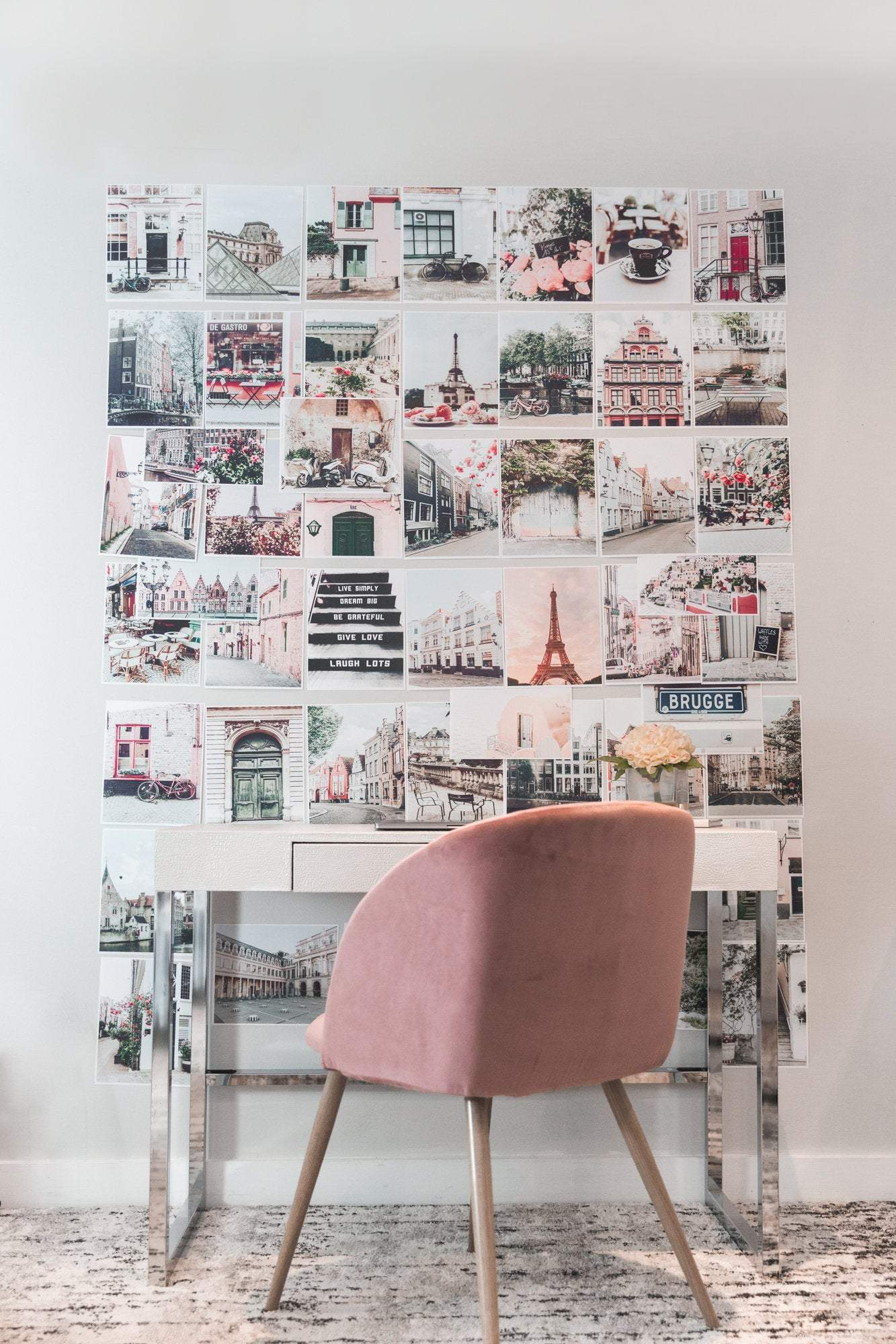 Wanderlust Collage Wall Art Print Kit Set Of 50 Travel Dorm Room