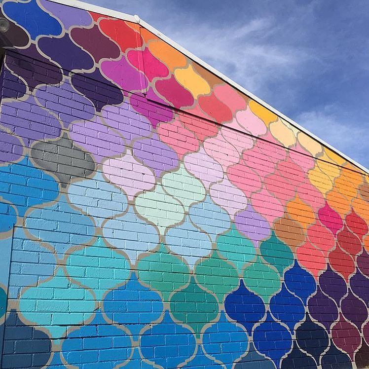 Repost This amazing mural by @wellshaken needs to become a crochet ...