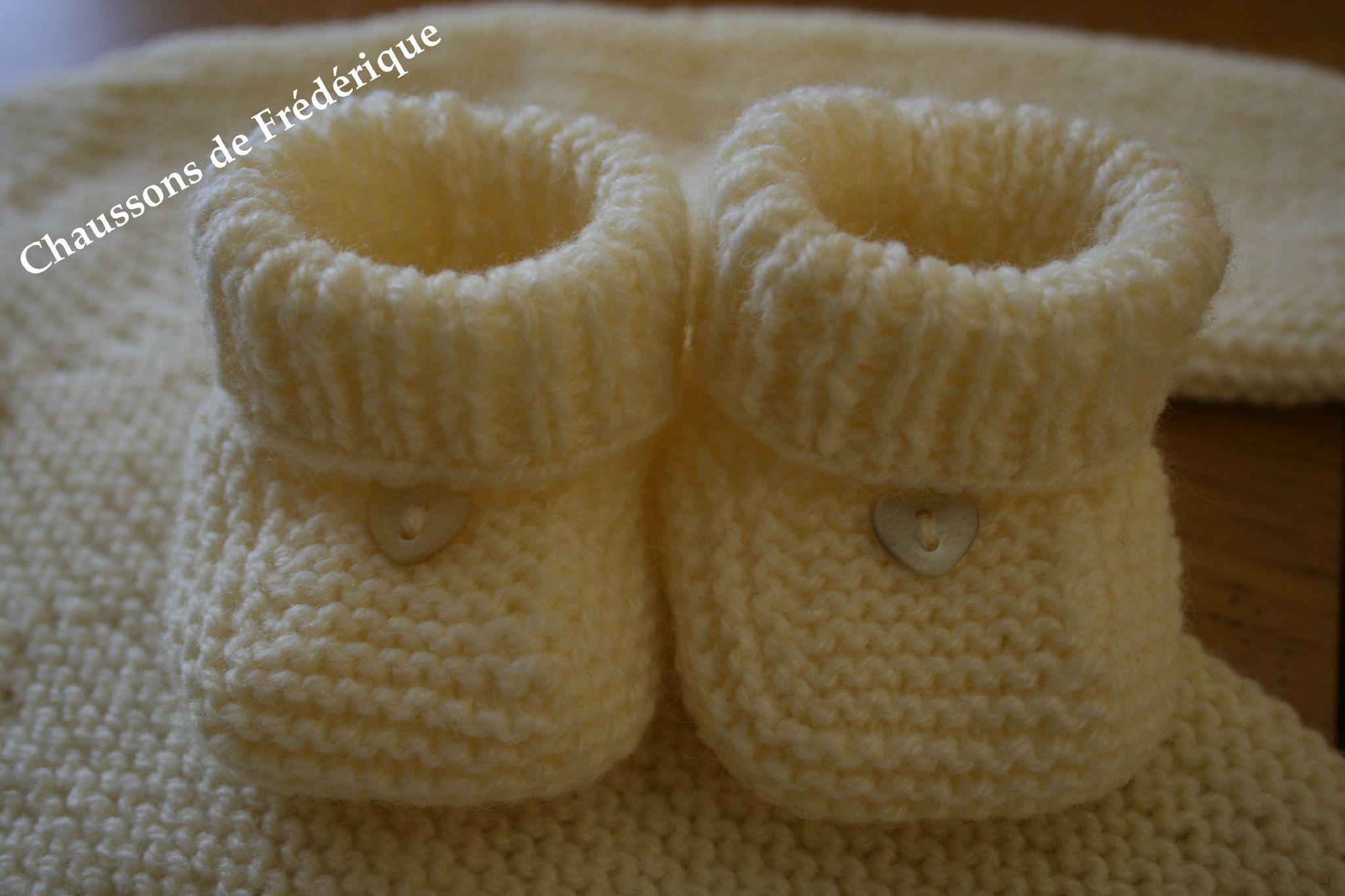 modele gratuit tricot chausson bebe