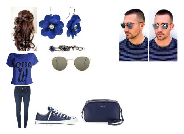 """""""Day with James"""" by cavallaro ❤ liked on Polyvore featuring Levi's, Converse, Furla, Arizona and Ray-Ban"""