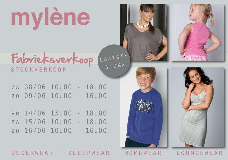 Fabrieksverkoop  MYLENE NV -- Heist-op-den-Berg  -- 08/06-16/06