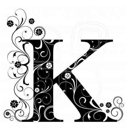 letter k alphabet arabic art