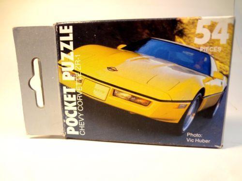 Corvette-ZR-1-Puzzle-Game-ZR1-Promo-Advertising-Toy-Promotional-Literature-sales