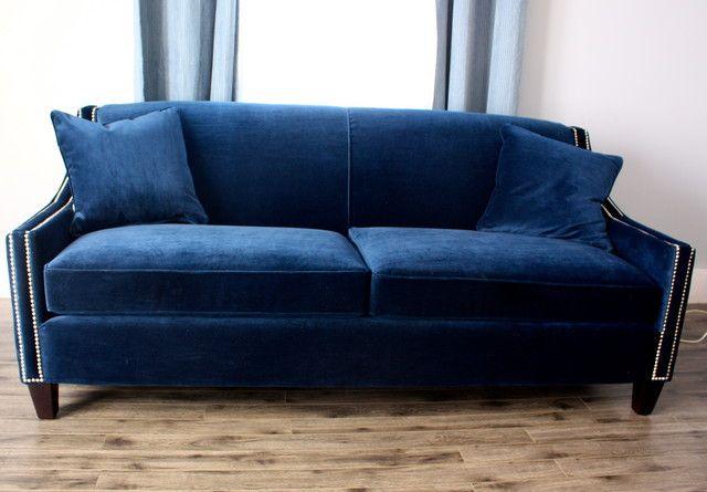 Blue Velvet Sofa - Home Decorating & Design Forum - GardenWeb   Home ...
