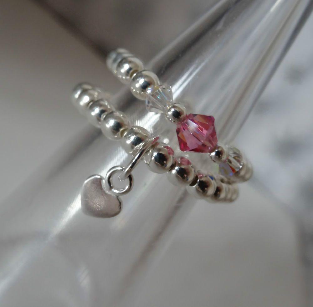Stretch Elastic Rings 925 Uk Seller Custom Made NEW
