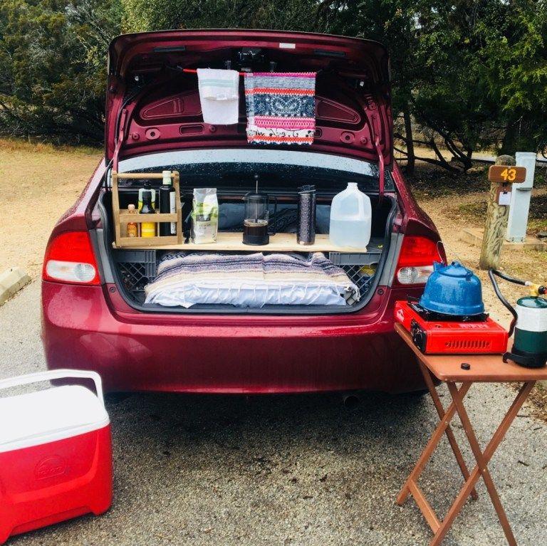 Super cute conversion of a Honda Civic into a Camper!
