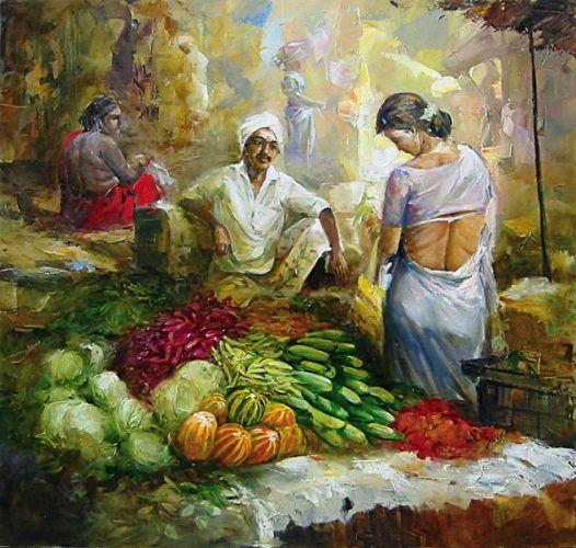 K N Ramachandran S Life Of Color Paintings And Art Gallery