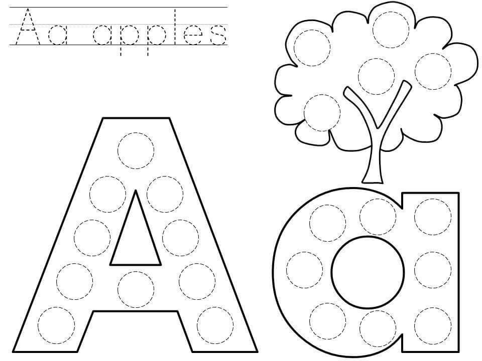 Related Posts Dot To Dot Printable Worksheetsletter Crafts For Preschoolalphabet Project For Kin Alphabet Coloring Pages Do A Dot Alphabet Activities Preschool