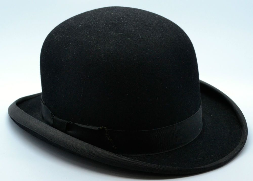 3a933f1dbfc STUNNING Vintage Dunn   Co Bowler Hat Small Long Oval Lightweight Wedding  Races