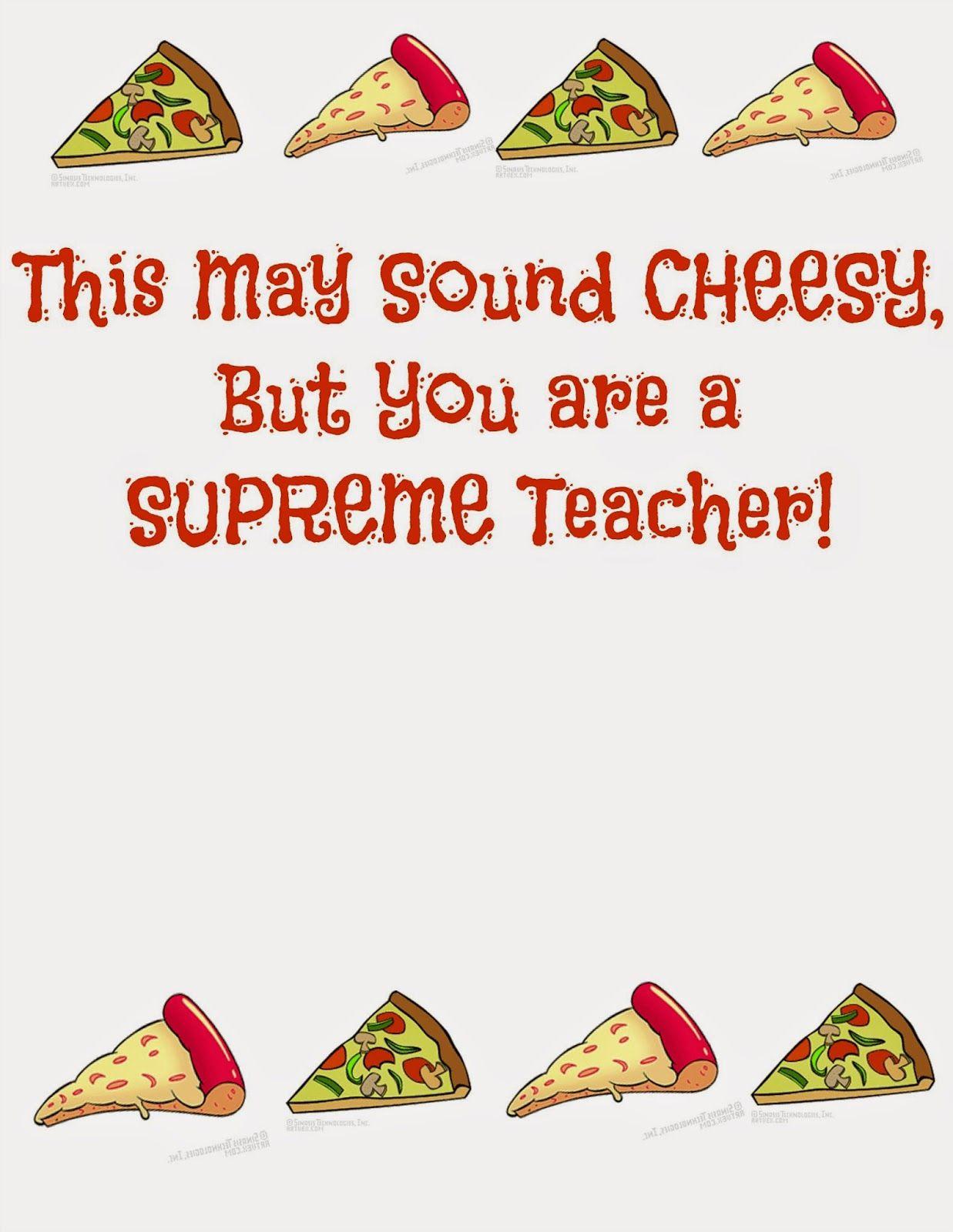 teacher appreciation pizza gift cards idea teacher u0026 coach gift