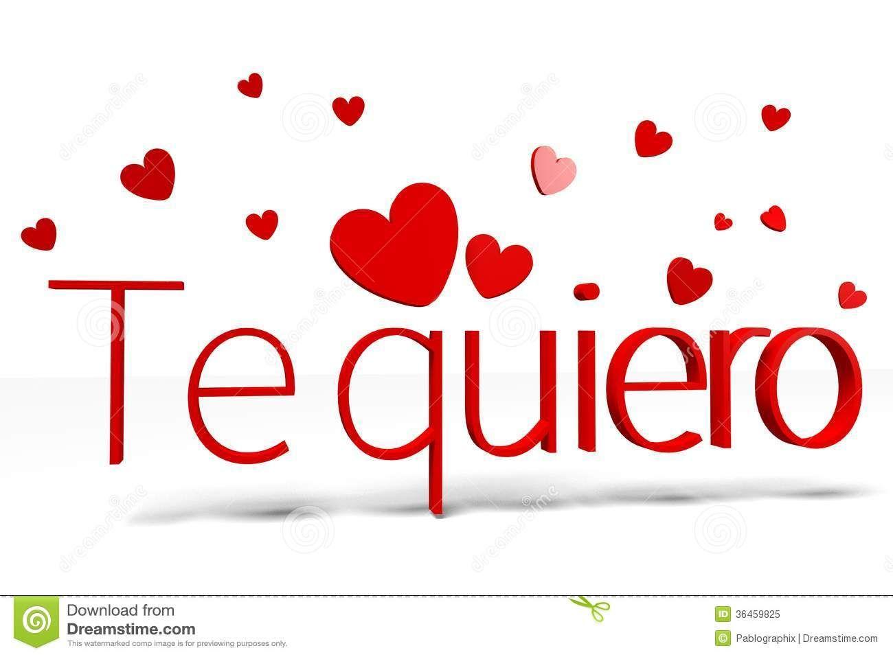 Royalty Free Stock Photo: D Graphics Valentine S Day Th February Te Quiero  Spanish.