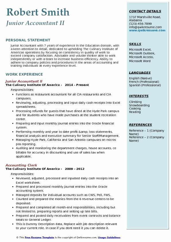25 accountant resume sample pdf in 2020