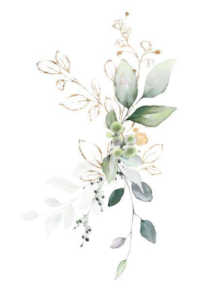 Invitación Verde verde y dorado Naturaleza verde Boda floral    Zazzle.com