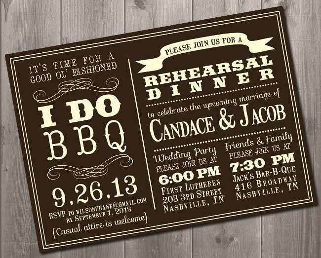 BBQ Barbecue Wedding Party Invitations Inspiration boards
