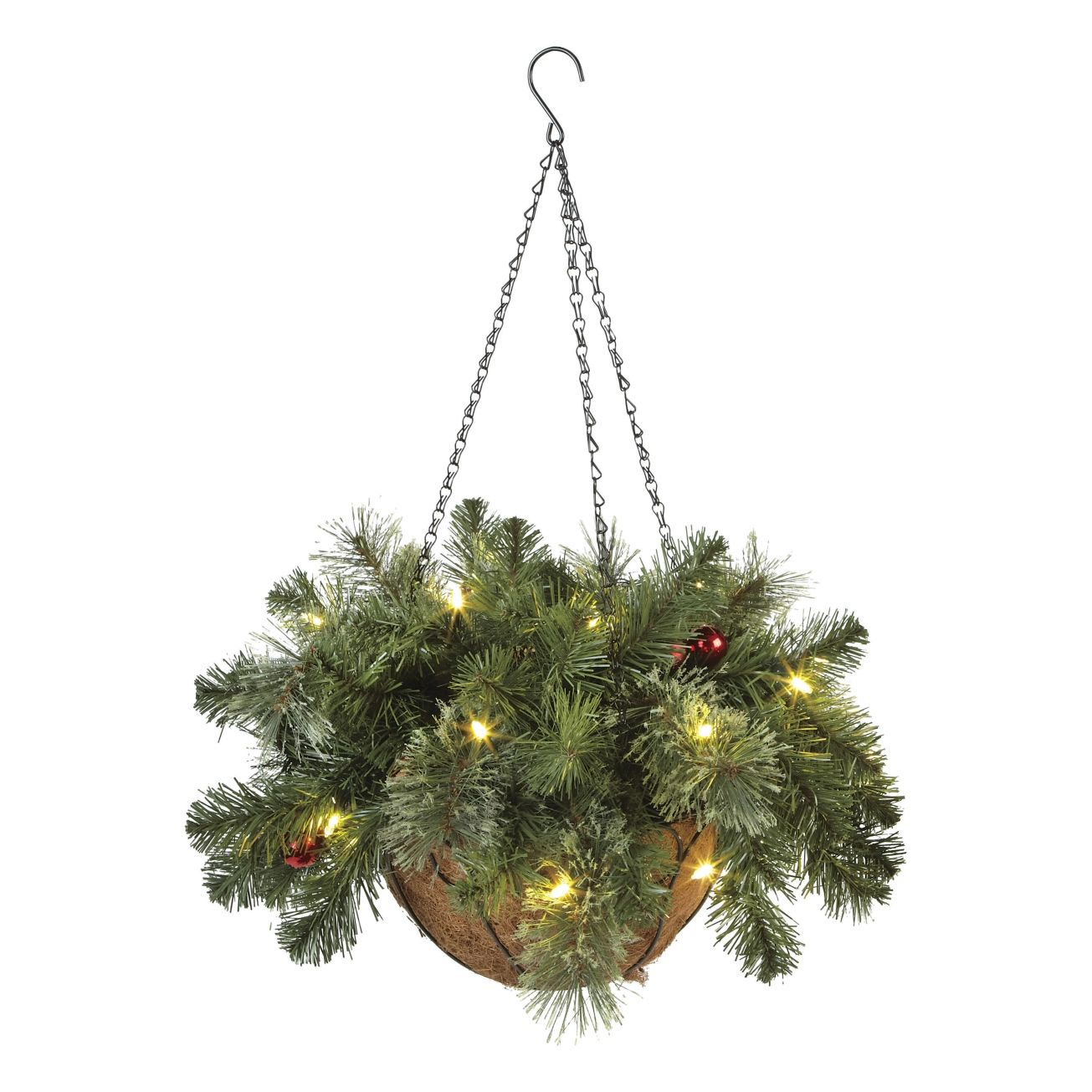 12in Brookhaven Lighted Hanging Basket Outdoor And Window Decor Ace Hardware 26 99 Hanging Baskets Window Decor Hanging Lights