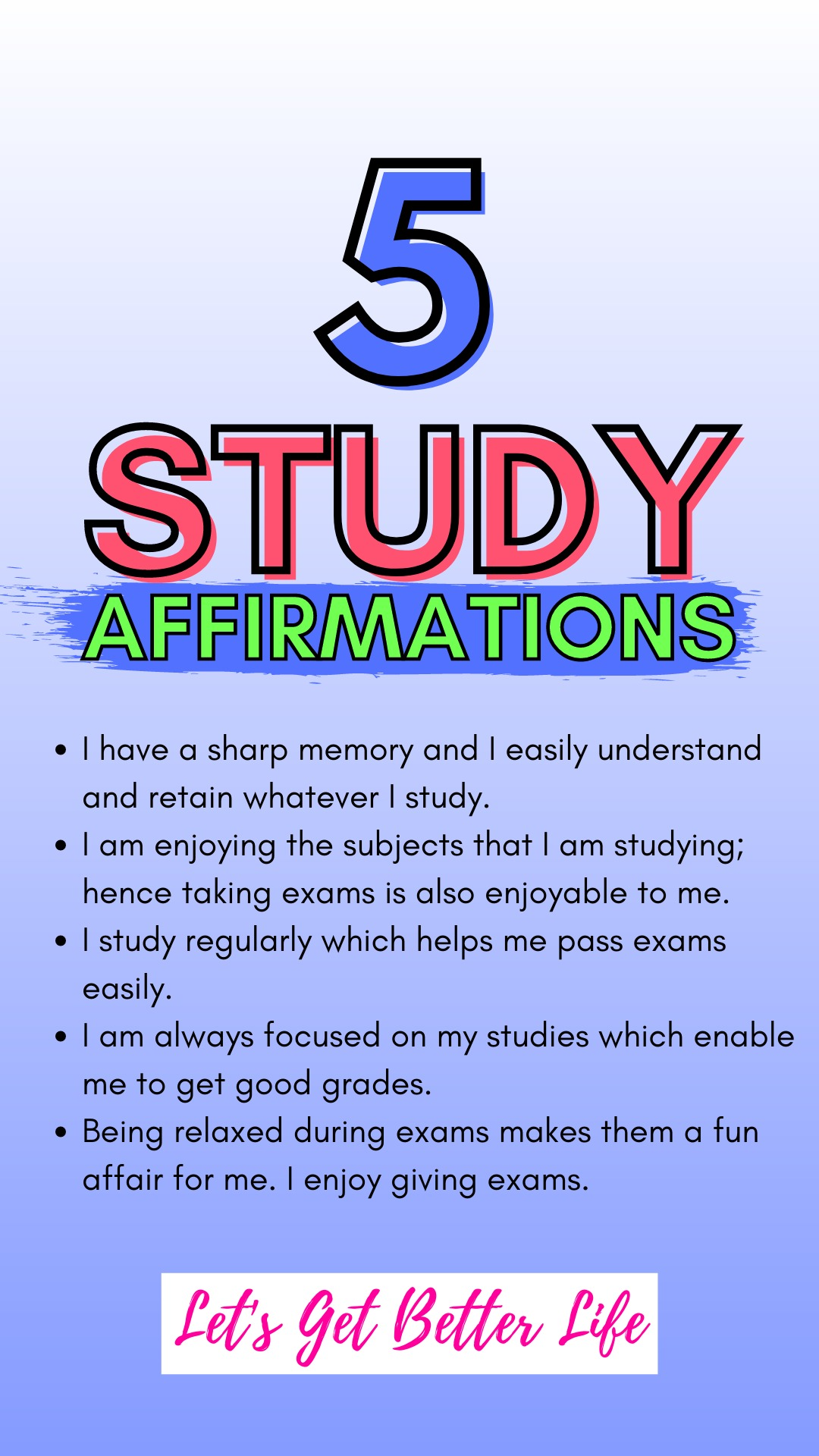 5 Study Affirmations to Help You Become Studious