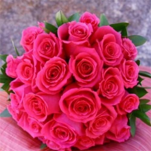 Bridal Bouquet Royal Dark Pink Roses Pink Rose Wedding Bouquet