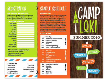 Camp Loki Brochure  Screen Shot Brochures And Camping