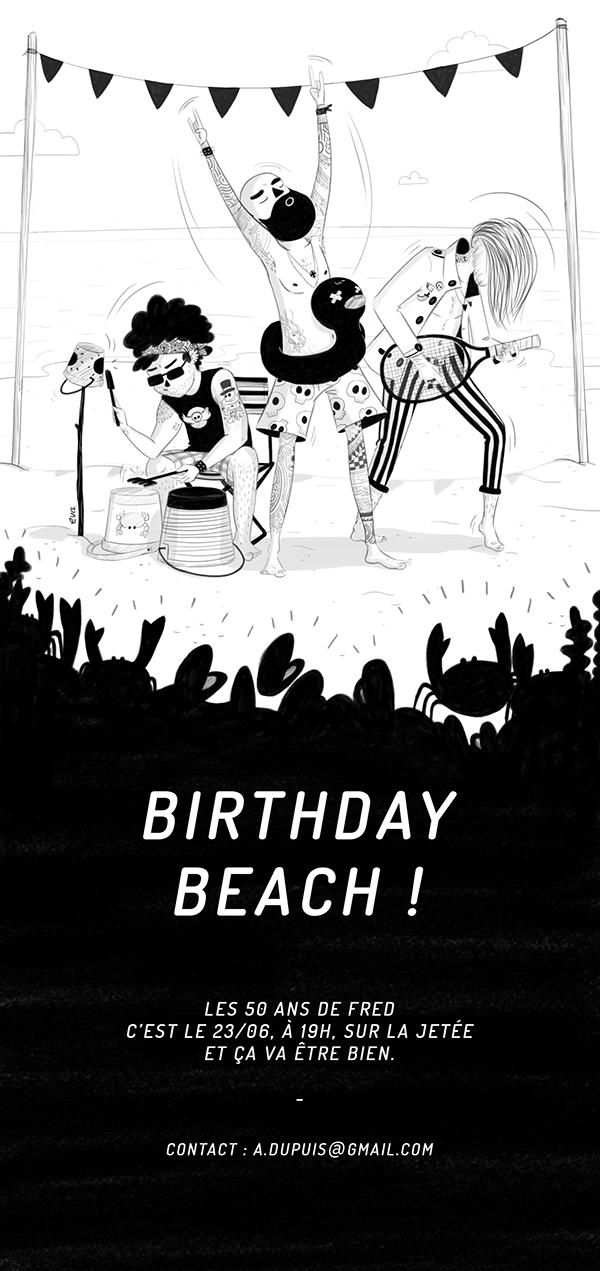 Birthday Beach ! on Behance Birthday mail, Birthday