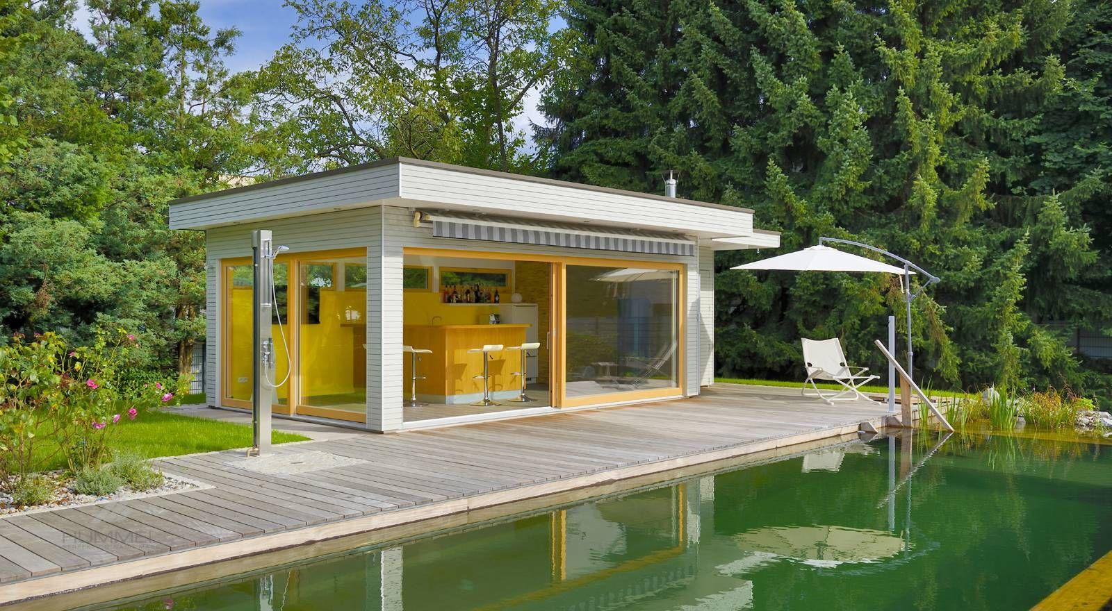 Moderne Gartenhäuser HUMMEL Blockhaus Haus, Gartenhaus