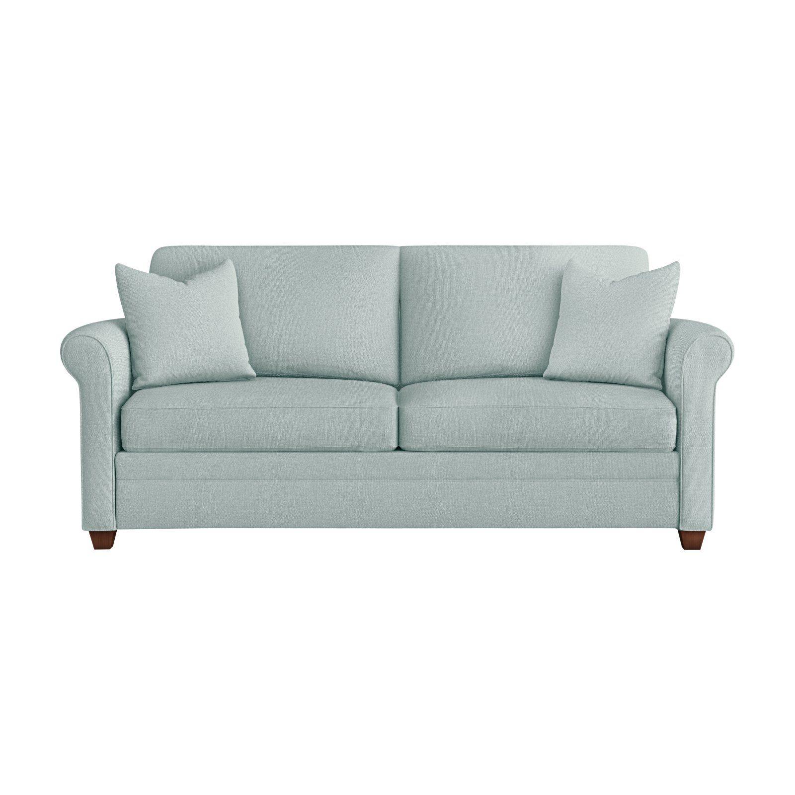 Klaussner Davidson Upholstered Sleeper Sofa Light Blue Sleeper Sofa Sofa Upholstered Sofa