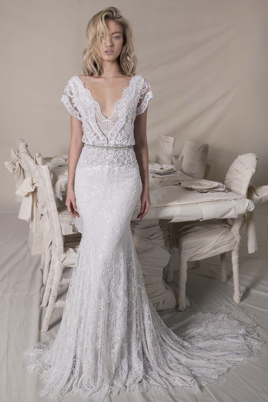 Champagne colored wedding dress  Lihi Hod Fall  Wedding Dresses  Fall wedding dresses Wedding