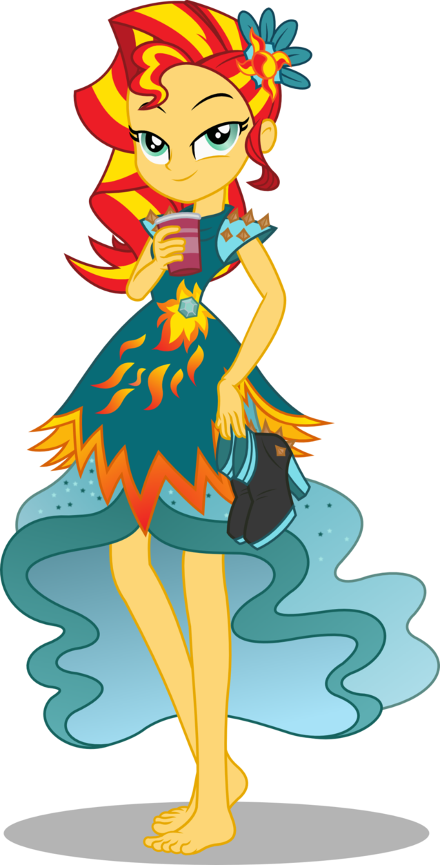 sunset shimmer loe now with 100 more shoes by seahawk270 mlp
