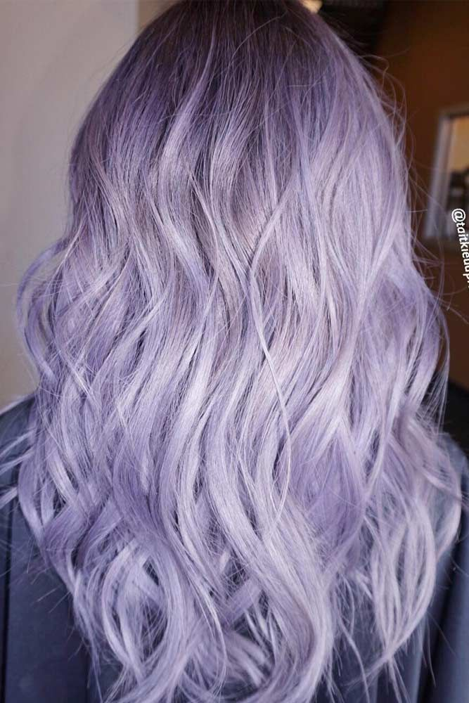Wavy Hair With Purple Color Picture3