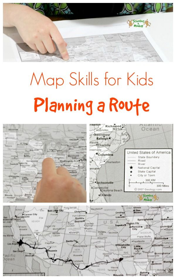 Map Skills for Kids: Planning a Route | Learning - Geography ... on